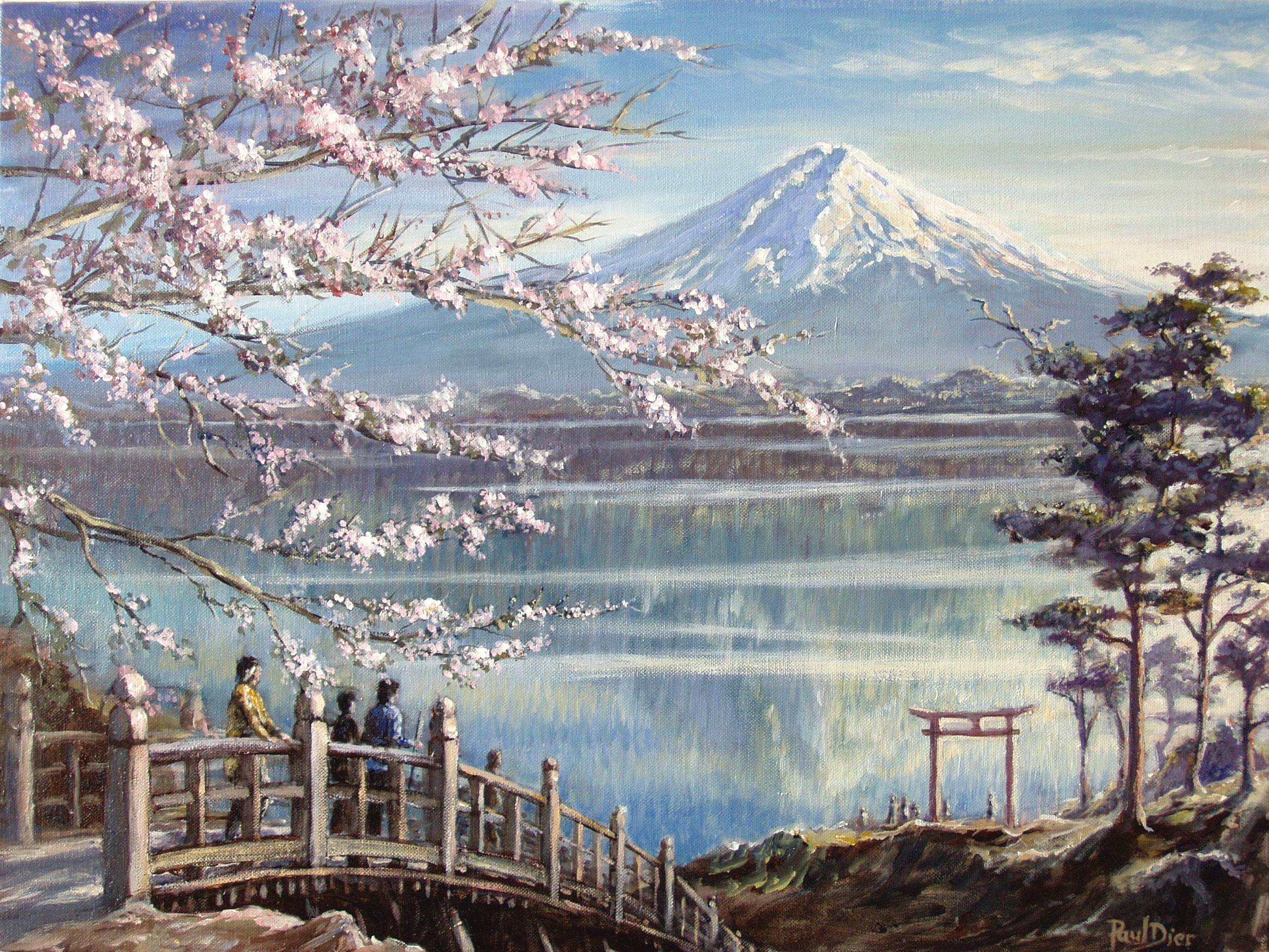 Image Gallery mount fuji painting
